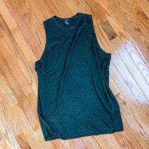 5/25 EUC Forever 21 Green Sleeveless Tunic Size M